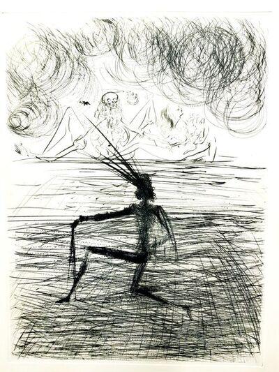 Salvador Dalí, 'Salvador Dali - Kneeling Knight - Original Etching', 1969