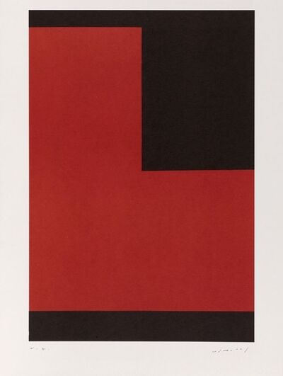 Aurelie Nemours, 'Angle noir polychrome terre', 1991