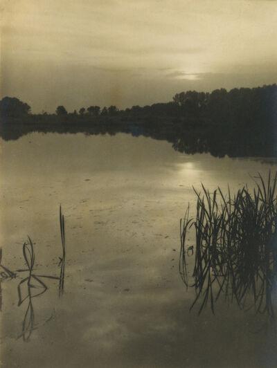 Josef Sudek, 'Lake at sunset.', Circa 1922