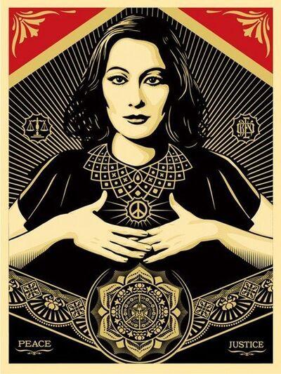 Shepard Fairey, 'Peace Justice Woman', 2013