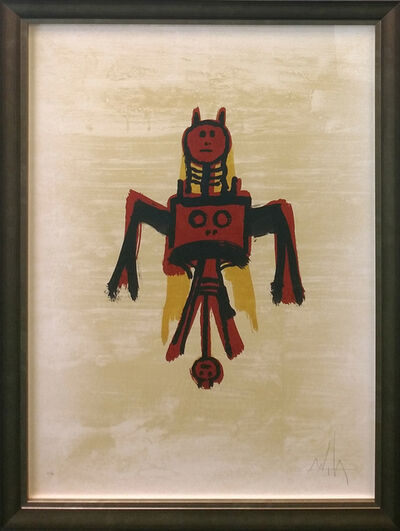 Wifredo Lam, 'EL ULTIMO VIAJE DEL BUQUE FANTASMA', 1976