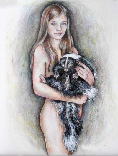 Elli Crocker, 'Girl with skunk', 2014