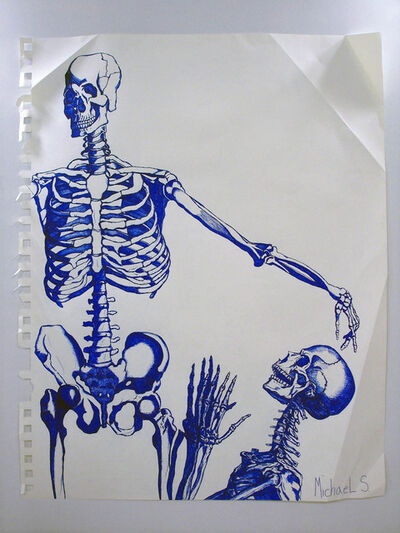 Michael Scoggins, 'The Anointment (Blue Skeletons)', 2010