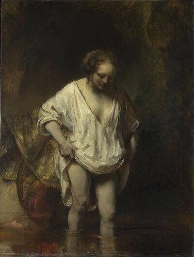Rembrandt van Rijn, 'A Woman bathing in a Stream (Hendrickje Stoffels?)', 1654