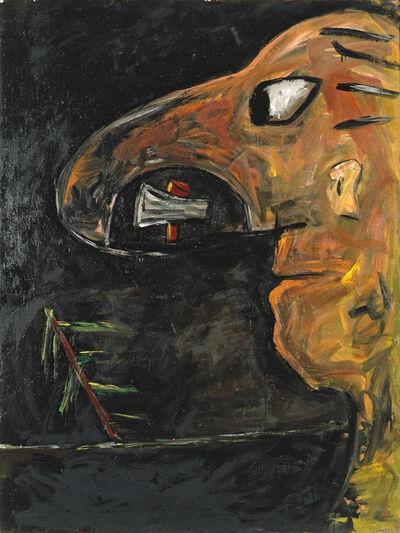Walter Dahn, 'Mann mit großer Nase', 1982
