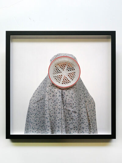 Shadi Ghadirian, 'Like everyday #09 (white plastic drainer)', 2000