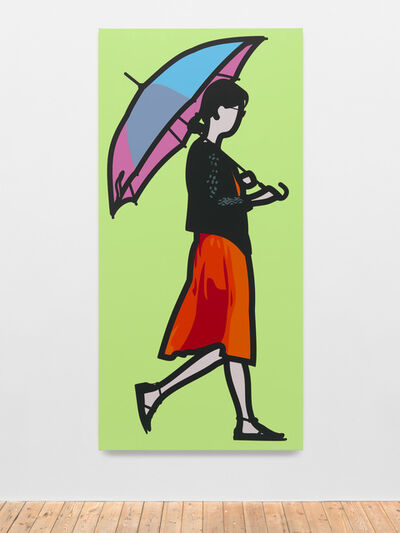 Julian Opie, 'Pink Umbrella', 2014