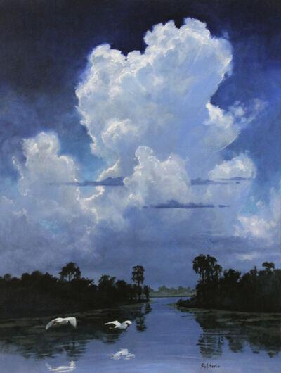 Billy Solitario, 'Snow Egrets Under Summer Sky ', 2018