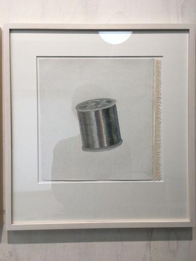 Yosuke Amemiya, 'Phantom Manuscripts (silver thread)', 2019