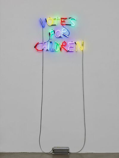John Isaacs, 'Untitled (Neon Votes for Children)', 2018