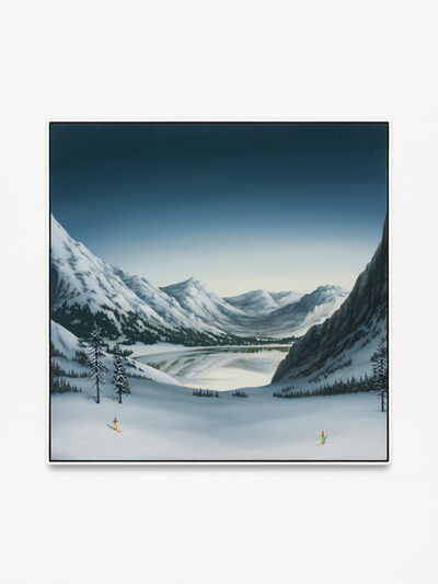 Dan Attoe, 'Mountains with Skiers', 2015