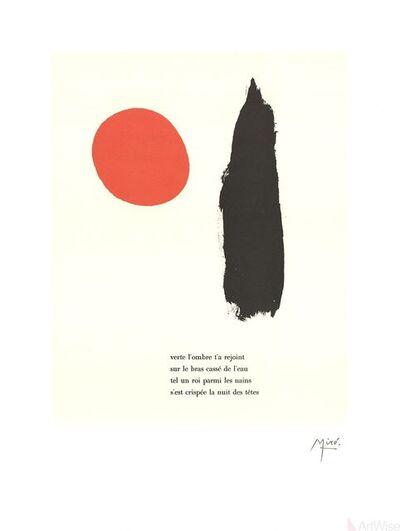 """Joan Miró, 'Illustrated Poems-""""Parler Seul"""" V', 2004"""