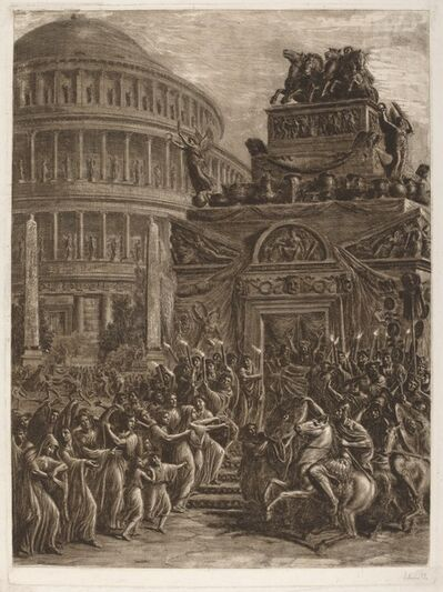 Luigi Ademollo, 'The Body of Hadrian Laying in State next to His Mausoleum', 1764-1849