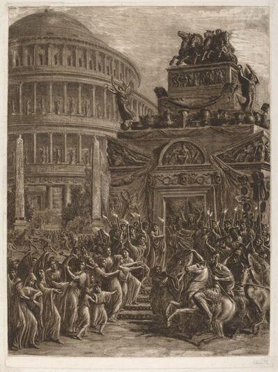 Luigi Ademollo, 'The Body of Hadrian Laying in State next to His Mausoleum', 1764-1849