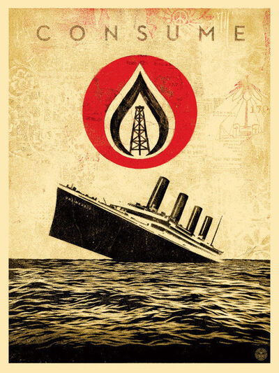 Shepard Fairey, 'unsinkable consumption', 2015