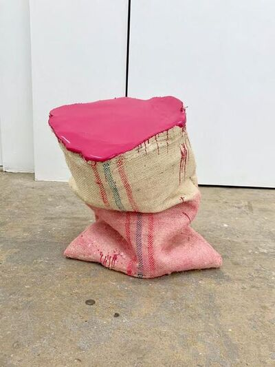 Howard Schwartzberg, 'Magenta Sack Painting', 2017
