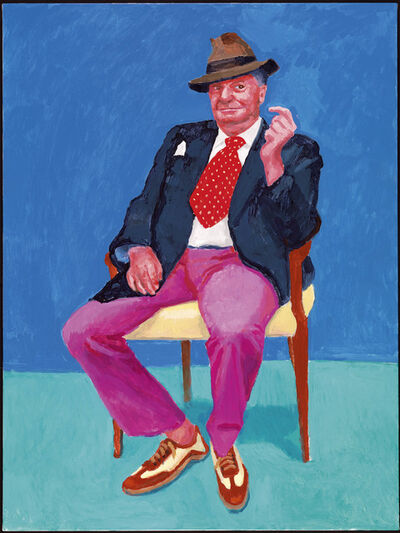 "David Hockney, '""Barry Humphries, 26th, 27th, 28th March 2015"" from ""82 Portraits  and 1 Still-Life""', 2015"