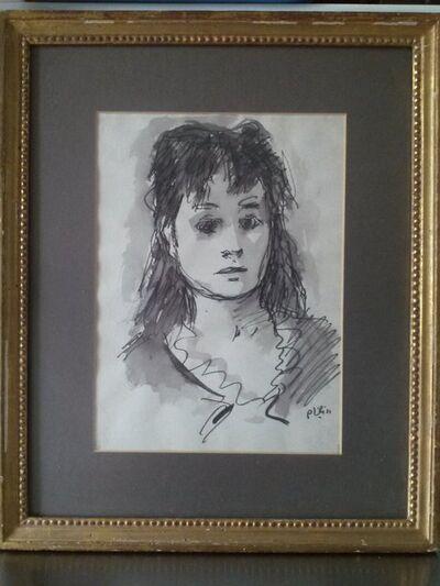 Robert Philipp, 'Beautiful Woman watercolor painting by Robert Philipp', 1940-1949