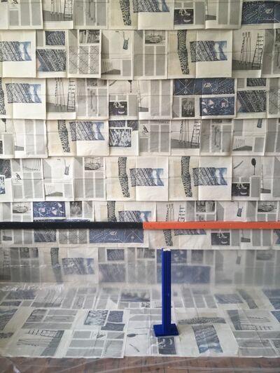 Ada Van Hoorebeke, 'Vuurtongen muur 2019', 2019