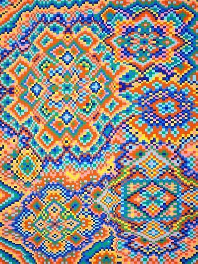 Todd Kelly, 'Orange/Blue Grid #3', 2017