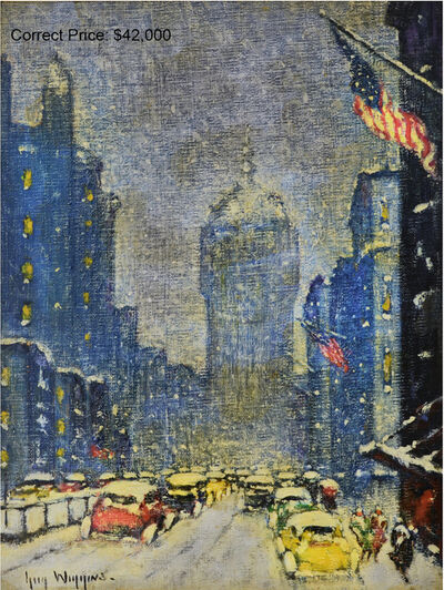 Guy Carleton Wiggins, 'Park Avenue Winter', ca. 1932