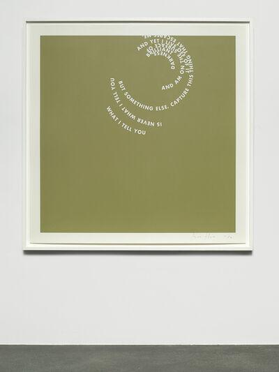 Roni Horn, 'Agua Viva: What I tell...', 2004