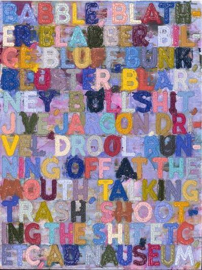 Mel Bochner, 'Babble'