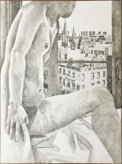Philip Pearlstein, 'Untitled Nude, from Atelier International Portfolio', 1985