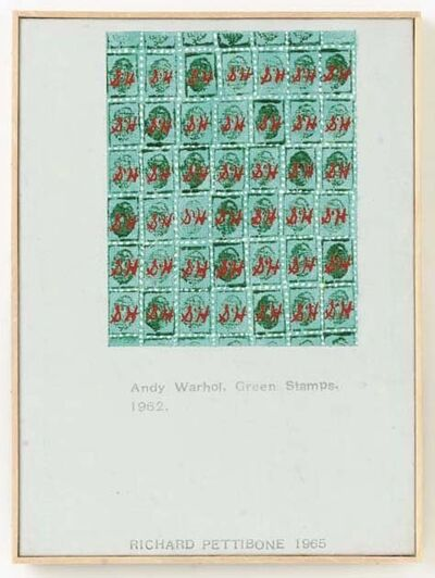"Richard Pettibone, 'Andy Warhol, ""Green Stamps"", 1962', 1965"