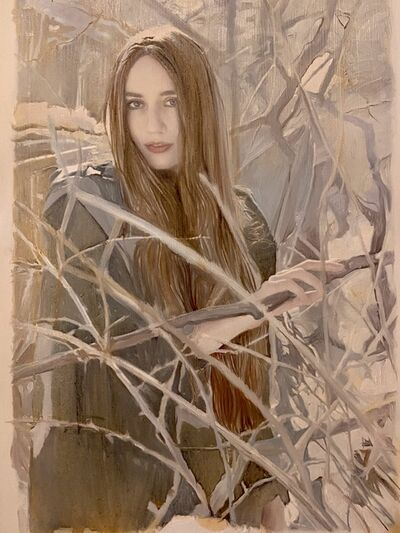 Yigal Ozeri, 'Untitled Study (Lizzie in the Snow)', 2010