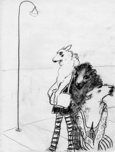 Elena Tejada-Herrera, 'Sheeps waiting at the corner', 2018