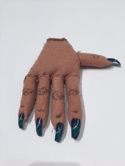 Narcissister, 'Soft Sculpture 2 (blue nails, right hand)', 2005-2016
