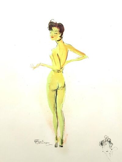 "Jean Gabriel Domergue, 'Lithograph ""Naked"" after Jean-Gabriel Domergue', 1956"