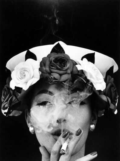 William Klein, 'Hat and Five Roses, Paris, Vogue', 1956
