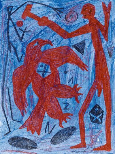 A.R. Penck, 'Über dem Adler-Raum', 2000
