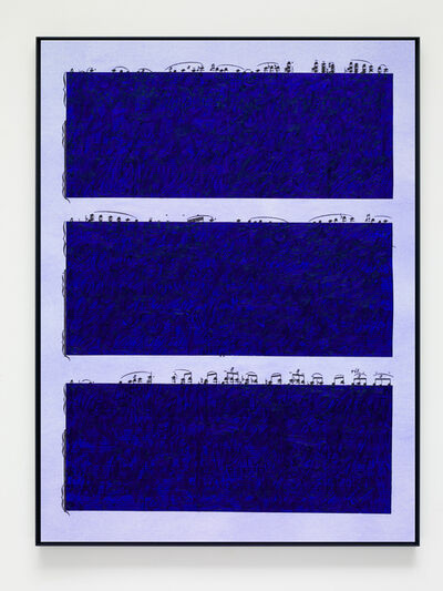 Idris Khan, 'Ultramarine Rhythm 5', 2019