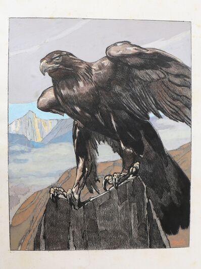 Paul Jouve, 'Art Deco Watercolor 'Aigle Royal dans les Montagnes', by Paul Jouve', 1930-1939