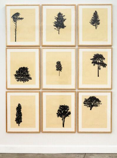 Peter Hoffer, 'Der Wald 10/12 - framed portfolio of nine woodblock prints', 2018