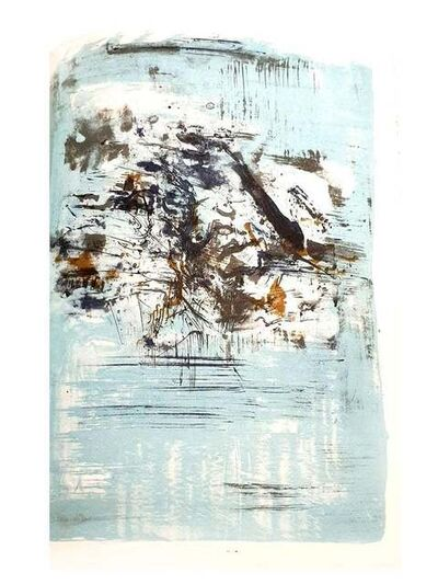 Zao Wou-Ki 趙無極, 'Zao Wou-Ki Zao Wou-ki - Original Lithograph - Abstract - Composition', 1962