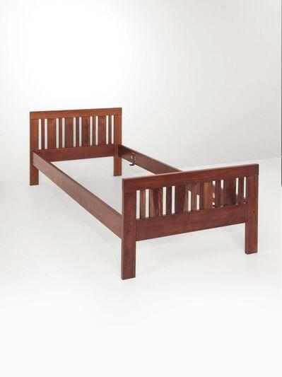 Ettore Sottsass, 'A wooden bed', 1970 ca.