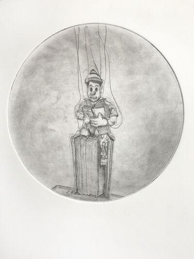 Soula Mantalvanos, 'Pinocchio Reading', 2019