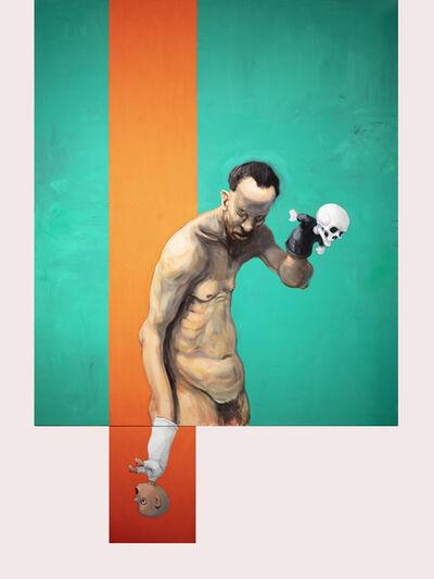 Michael Kvium, 'The Vertical Orange', 2020