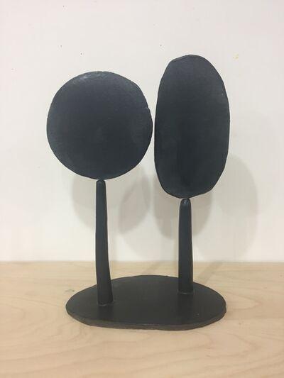Keiko Narahashi, 'Untitled (Black Round & Oblong)', 2019