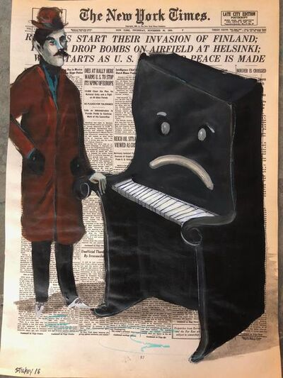 Mike Stilkey, 'Man Comforting Sad Piano', 2018