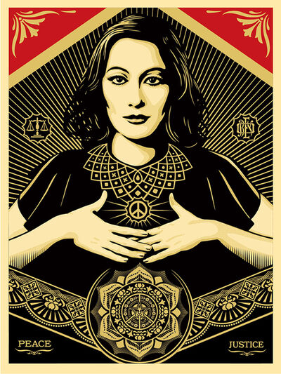Shepard Fairey (OBEY), 'Peace and Justice Woman', 2013