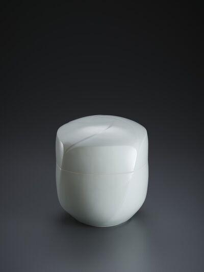 "Peter Mark Hamann, 'Sculpted Blue-White Porcelain ""Pinwheel"" Lidded Box', 2018"