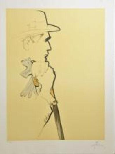 René Gruau, 'Au Champs De Cours - Male Profile', 1990