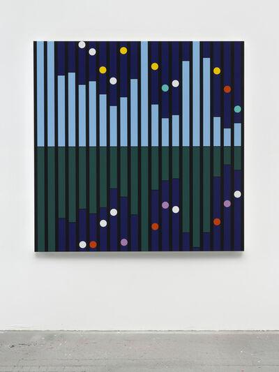 Sarah Morris, 'Another World [Sound Graph]', 2018