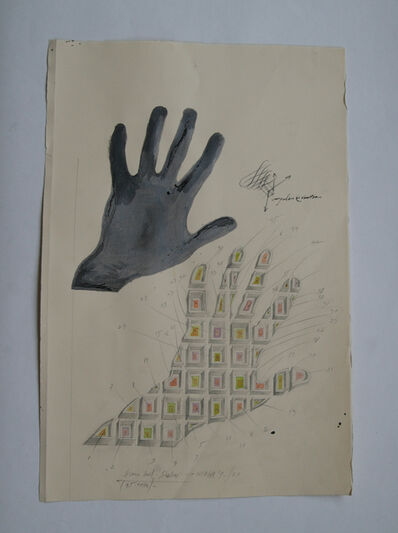 "Paul Neagu, '""Human hand shadow""', 1973"
