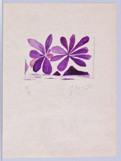 Georges Braque, 'Lettera Amorosa, Fleurs de l'air, Page 25', 1963